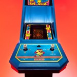 "80's mini arcade Ms Pac-Man photographed for an art show titled ""Blue""."