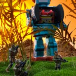 Robots invade the jungle and the toys fight back. Imagined and photographed for an art show that never happened.