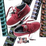Tyler Bledsoe signature shoe photographed for an Etnies advertisement. The film strips underneath the shoes were not photographed by me.